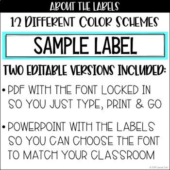 Drawer Labels (Editable) - 10 Drawer Cart Labels