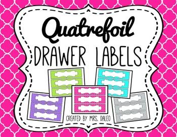 Drawer Labels - Editable Quatrefoil