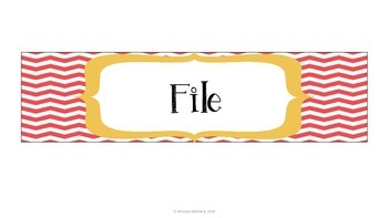 Drawer Labels Freebie