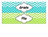 Drawer Labels - Grade, File, & Copy