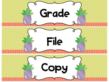 Drawer Labels - Grade File Copy