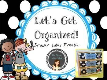 Drawer Labels- Melonheadz & Polka Dots {Freebie}
