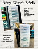 Shiplap Drawer Labels (Michael's drawers) fits Target Square Adhesive Pockets!