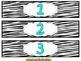 Drawer Labels (Zebra/Aqua)