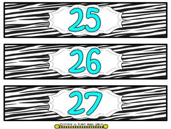 Drawer Labels (Zebra/Aqua)