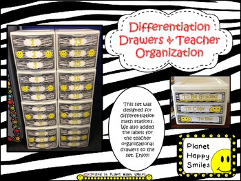Drawer Labels (Zebra/Aqua/Happy Faces)