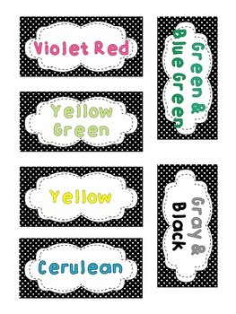 Drawer Labels for Crayons