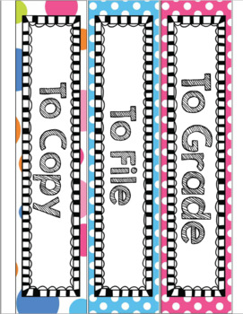 Drawer Labels for Grade Copy File