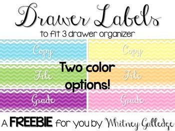 Drawer Organizer Labels {FREEBIE}