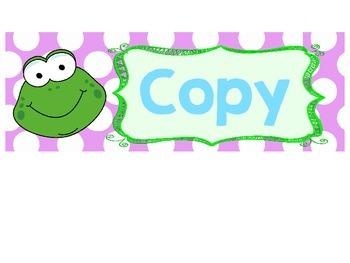 Drawer labels-frog/polka dot theme