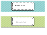 Drawers Organizer Labels EDITABLE