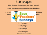Drawing 2-D shapes lesson plans, worksheets and more