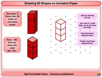 Drawing 3D Shapes on Isometric Paper for High School Math
