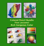 Art Drawing Bundle 5 Colored Pencil Lessons for Middle or