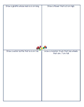 Drawing Activity Using Centimeter Cubes
