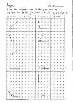 Angles - copy, enlarge, shrink