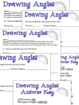 Drawing Angles - Acute, Right, Obtuse, Straight