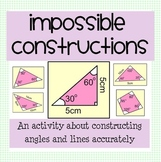 Drawing Angles - Impossible Constructions Activity