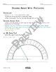 Drawing Angles With a Protractor Math Video and Worksheet