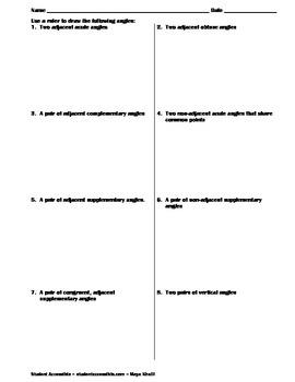 Drawing Angles Worksheet
