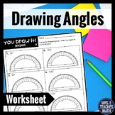 Drawing Angles You Draw It! Worksheet  4.MD.6