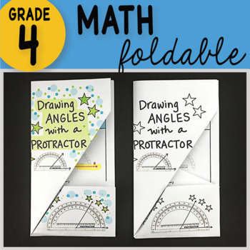 Math Doodle - Drawing Angles with a Protractor ~ INB Foldable Notes ~