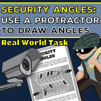Drawing Angles with a Protractor: Real World Task 4.MD.5