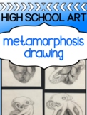 Drawing Assignment for high school - Metamorphosis Drawing