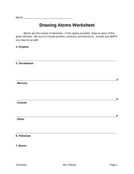 Drawing Atoms WS