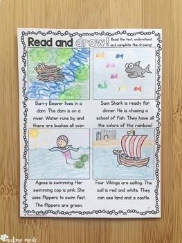 Drawing Based on Reading Comprehension MINI BUNDLE 1