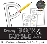 Drawing Block and Bubble Letters