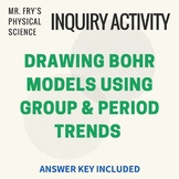 Drawing Bohr Models (with key!) - Perfect Group & Period Trends Worksheet