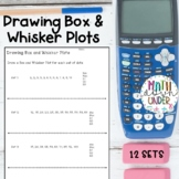 Drawing Box and Whisker Plots Practice Sheets!