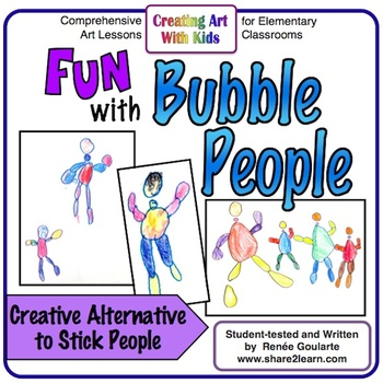 Art Lesson Directed Drawing Bubble People Tpt
