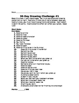 30-Day Drawing Challenge #1