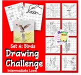 Directed Drawing Challenge Series 4: Birds Intermediate Level