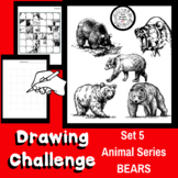 Art Lesson - Directed Drawing Challenge: Series 5 Bears - Sub Plan