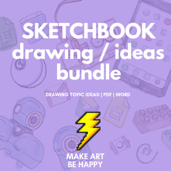 Drawing Challenges Sketchbook Topics Assessment 1 3 Bundle