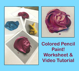 Drawing! Colored Pencil Paint Worksheet/Video Tutorial