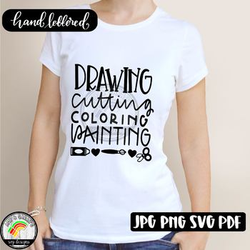 Drawing Coloring Cutting Paint Art SVG Design