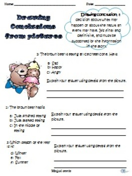 Drawing Conclusion Activities