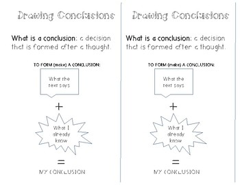 Drawing Conclusion Interactive Notebook