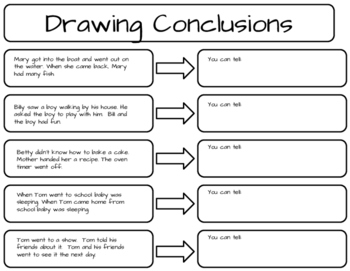 Drawing Conclusion Practice