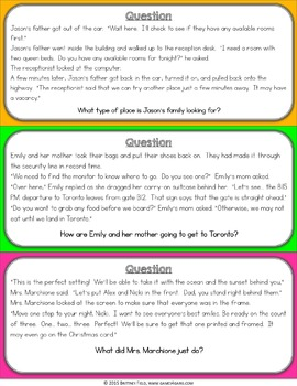 Drawing Conclusions Passages: Drawing Conclusions Task Cards Game