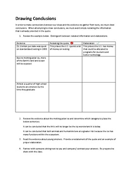 Drawing Conclusions: Citing Textual Evidence (Essay Prep)
