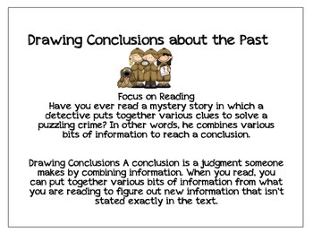 Drawing Conclusions About the Past