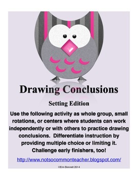Drawing Conclusions Activity: Setting Edition