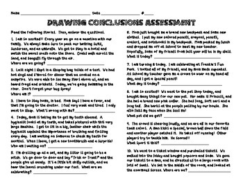Drawing Conclusions Assessment