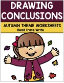 Drawing Conclusions Autumn Theme Worksheets with Key (Grades K-2)