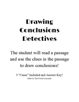 FREEBIE!! Drawing Conclusions Cases